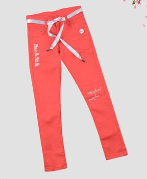 ZIBA CLOTHING Full Length Jeans - Light Pink