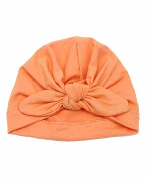 Syga Turban Wrapped Style Winter Cap Peach - Diameter 16 cm