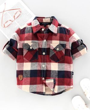 Trendy Cart Full Sleeves Checked Shirt - Red