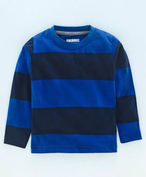 Rikidoos Full Sleeves Striped Tee - Blue