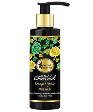 Oriental Botanics Activated Charcoal Bright Glow Face Wash -  200 ml