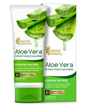 Oriental Botanics Aloe Vera Green Tea & Cucumber Hydrating Face Wash - 100 ml