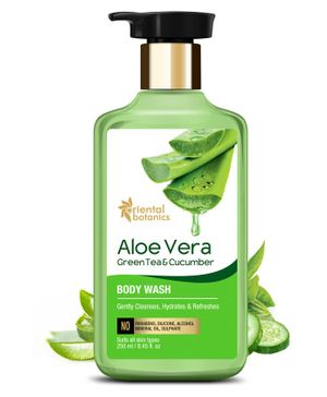Oriental Botanics Aloe Vera Green Tea & Cucumber Body Wash  - 250 ml