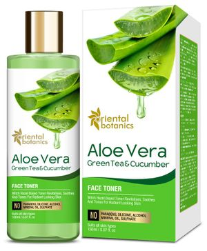 Oriental Botanics Aloe Vera Green Tea & Cucumber Face Toner - 150 ml