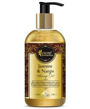 Oriental Botanics Jasmine and Nargis Body Massage Oil - 200 ml