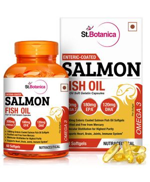 St.Botanica Salmon Fish Oil 1000mg - 60 Capsules