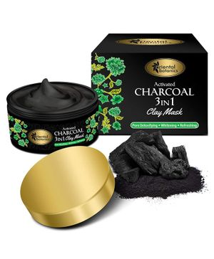 Oriental Botanics Activated Charcoal 3 In 1 Clay Mask - 100 gm
