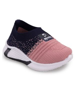 FEETWELL SHOES Dual Colour Slip On Shoes - Pink