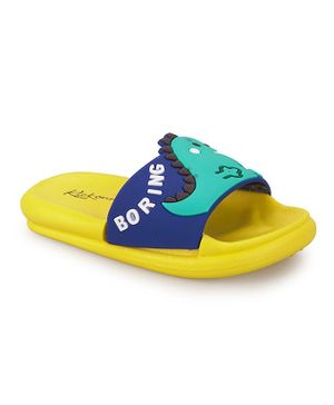 FEETWELL SHOES Dinosaur Flip Flops - Yellow