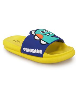 FEETWELL SHOES Dinosaur Design Flip Flops - Yellow
