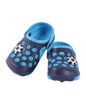 Yellow Bee Football Patch Clogs - Blue