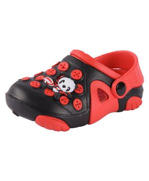 Yellow Bee Panda Patch Clogs - Red