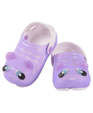 Yellow Bee Fish Pattern Clogs - Purple