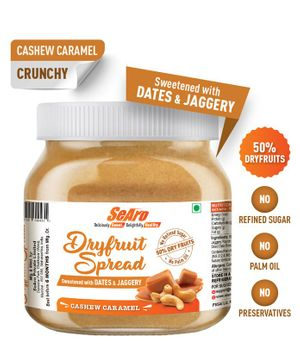 SeAro Cashew Caramel Dry Fruit Spread - 250 gm