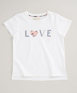 Angel & Rocket Short Sleeves Love Print Tee - White