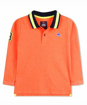 Cherry Crumble by Nitt Hyman Full Sleeves Number Patch Tee - Orange