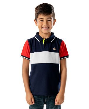 Cherry Crumble by Nitt Hyman Half Sleeves Striped Polo T-Shirt -  Multicolor