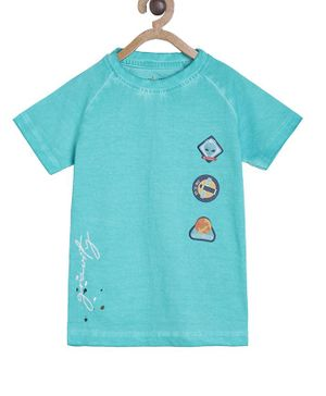 Tales & Stories Short Sleeves Printed Tee - Green
