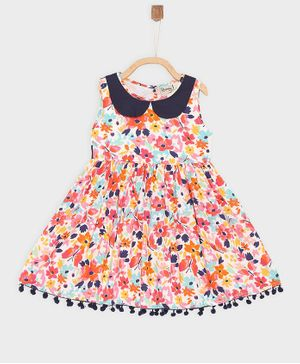Rianna Sleeveless Floral Print Dress - Multi Color
