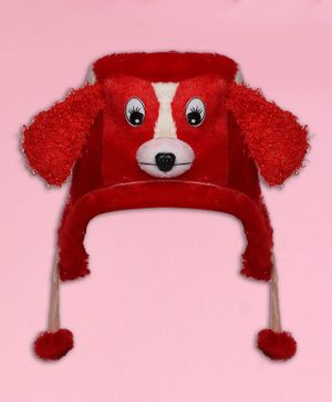 Coco Candy Dog Design Cap - Red