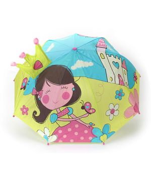 Abracadabra 3D Pop Up Umbrella Blue Green - 57 cm