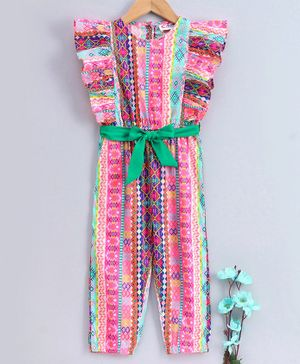 M'andy Sleeveless Print Jumpsuit  - Pink
