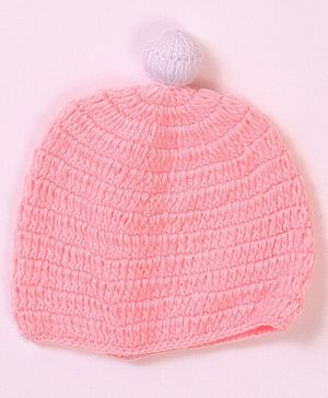 USHA ENTERPRISES Kitten Design Woollen Cap - Pink