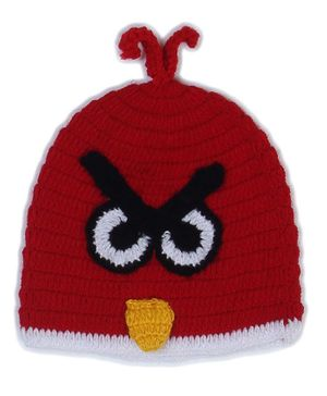 USHA ENTERPRISES Bird Crochet Cap - Red