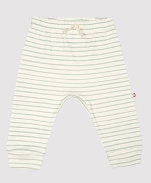 Nino Bambino 100% Organic Cotton Stripped Pajama - Cream