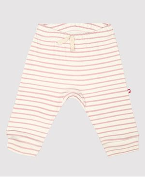 Nino Bambino 100% Organic Cotton Stripped Leggings - Cream