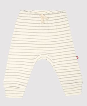 Nino Bambino 100% Organic Cotton Stripped Leggings - Grey