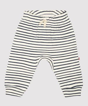 Nino Bambino 100% Organic Cotton Stripped Leggings - Black