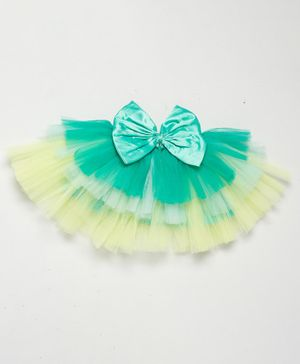 PinkChick Solid Colour Bow Detailing Layered Tutu Skirt - Sea Green
