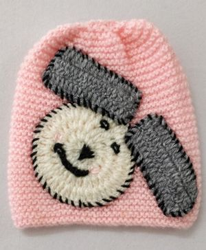 Knit Masters Bunny Design Cap - Baby Pink