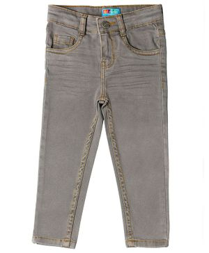 Kid Studio Slim Fit Solid Jeans - Grey