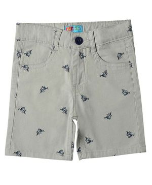 Kid Studio Fish Print Shorts - Grey