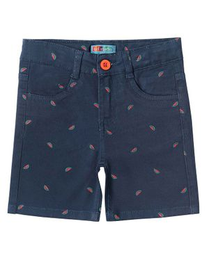 Kid Studio Watermelon Print Shorts - Blue