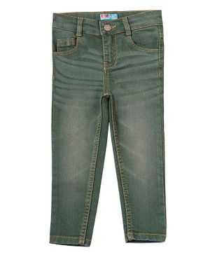 Kid Studio Tapered Fit Solid Jeans - Green