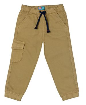 Kid Studio Solid Front Pocketed Trousers - Brown
