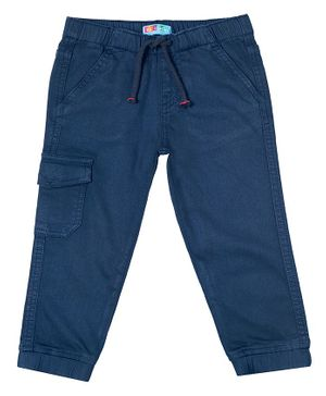 Kid Studio Solid Front Pocketed Trousers - Blue