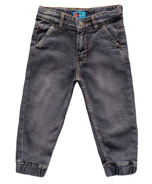 Kid Studio  Regular Fit Solid Jeans - Dark  Grey