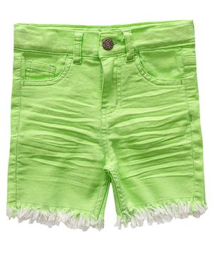 Kid Studio Raw Hem Shorts - Green