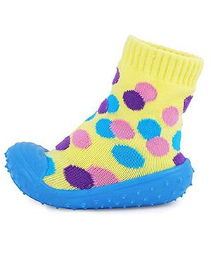 U-grow Anti-Skid Breathable Soft Socks Shoes Polka Dot Design - Yellow