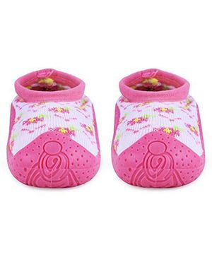 U-grow Anti-Skid Breathable Soft Socks Shoes Floral Design - Pink