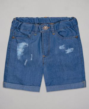 The Sandbox Clothing Co Distressed Shorts - Blue