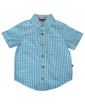 Nino Bambino Oragnic Cotton Check Shirt - Blue White
