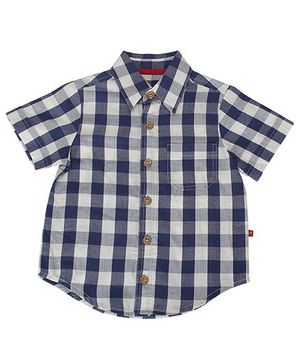 Nino Bambino Oragnic Cotton Check Shirt - Navy White