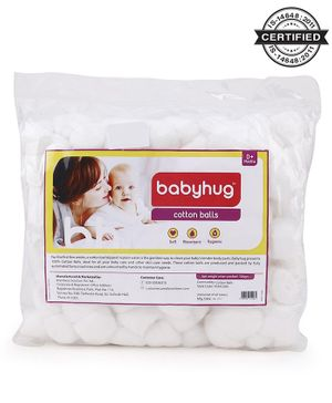 Babyhug 100% Cotton Balls - 100 gm (Approx 140 pieces)