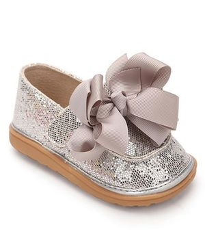 Mooshu Trainers Glittery Pair Of Shoes - Silver