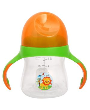 1st Step 2 Stage Cup With Silicone Nipple and Spout Orange Green - 150 ml